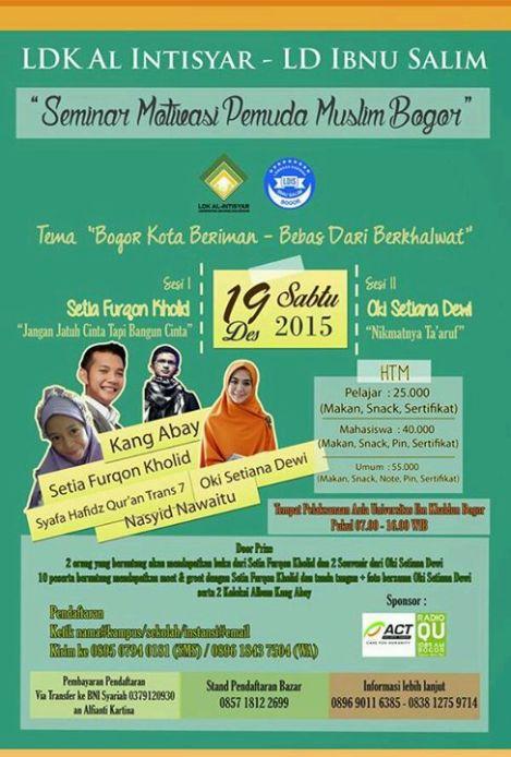 Seminar Motivasi Pemuda Muslim Bogor By LDK Al Intisyar