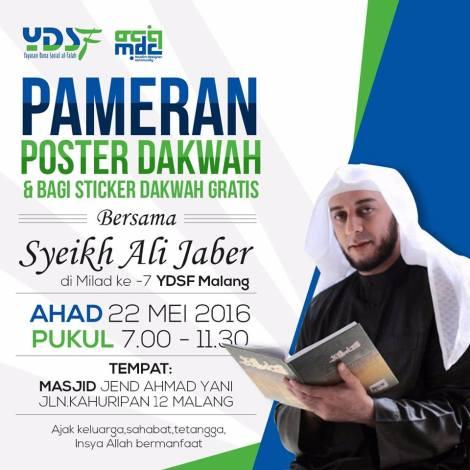 Jangan Lewatkan ! Pameran Poster Dakwah & Bagi Sticker Gratis  Bersama Syeikh Ali Jaber