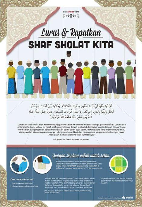 Downlaod Gratis Poster Rapat Dan Luruskan Shaf Sholat 1