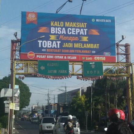 Makin Jossh ! Penampakan Baliho Dakwah Yang Bertebaran Di Kota Malang 1