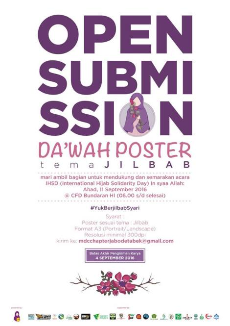 Open Submission Poster Dakwah Acara International Hijab Solidarity Day